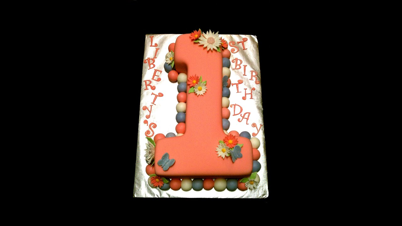 How to make a number 1 first birthday cake youtube for Number 1 decorations
