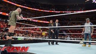 Triple H, Randy Orton and Batista look toward WrestleMania 30 Raw, March 31, 2014