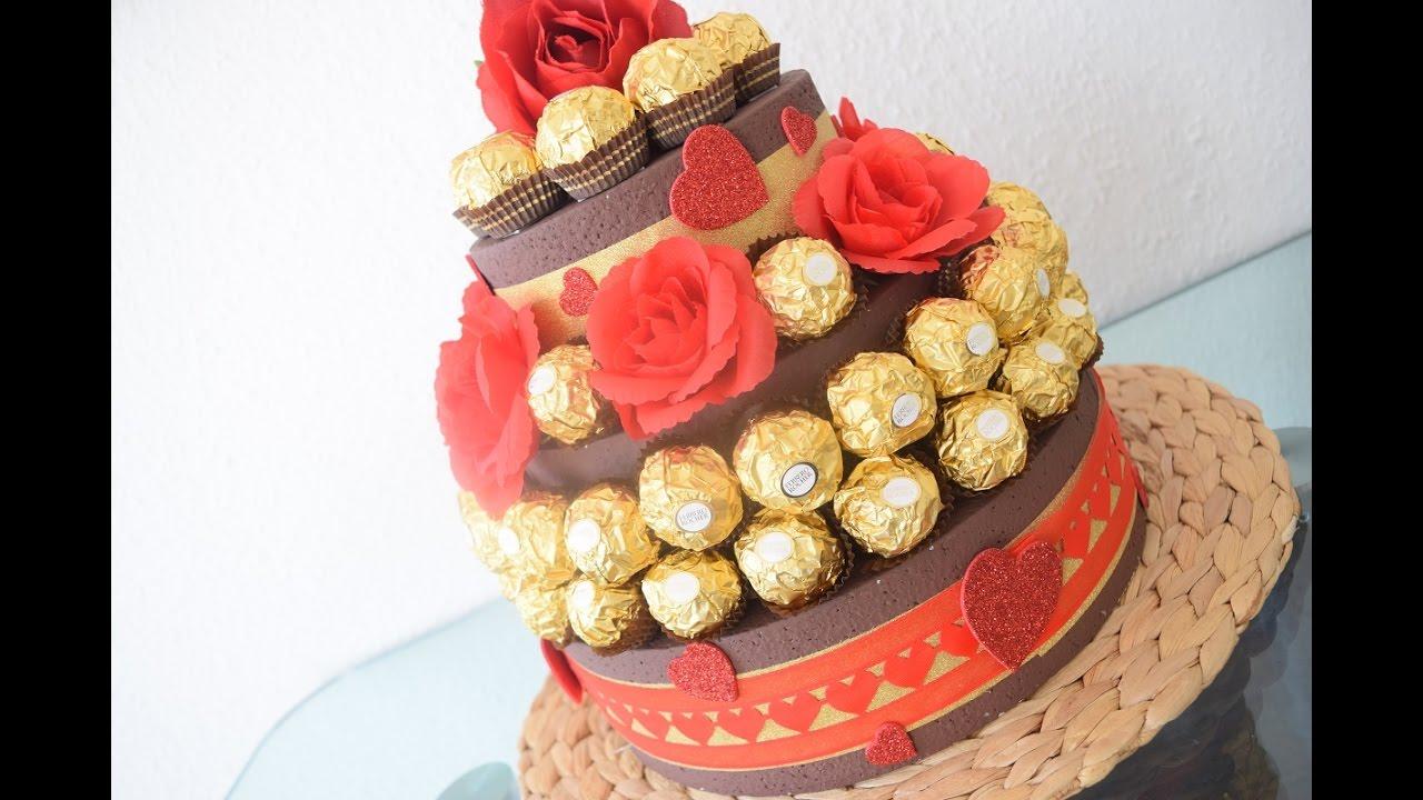 DIY Rocher Torte zum verschenken  Hochzeitsgeschenk o andere besondere Anlsse  YouTube