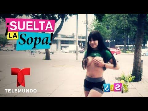 Tracy Saenz pagó apuesta en topless | Suelta La Sopa | Entretenimiento