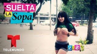 Tracy Saenz pagó apuesta en topless   Suelta La Sopa   Entretenimiento
