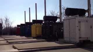 Engine generators (mitsubishi) test on DC3 datacenter