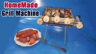 HomeMade Sausage Grill Machine | DIY BBQ grill At Home