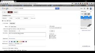 How to create a Google Calendar event template