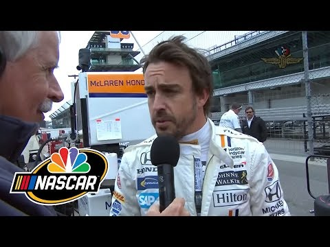 Fernando Alonso on his first Indy 500 practice