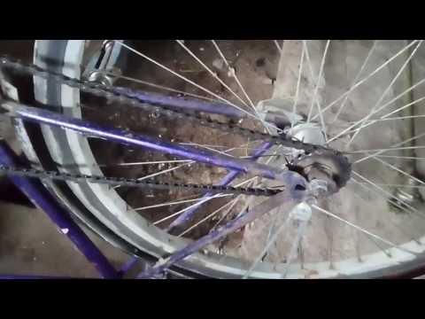 Как натянуть цепь на велосипеде.