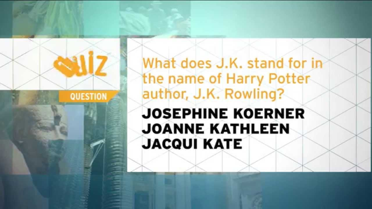 Quiz what does jk stand for in jk rowling youtube biocorpaavc Image collections