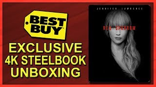 Red Sparrow Best Buy Exclusive 4K+2D Blu-ray SteelBook Unboxing