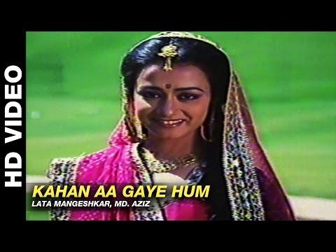 Kahan Aa Gaye Hum - Kab Tak Chup Rahungi | Lata Mangeshkar, Mohammed Aziz | Aditya Pancholi & Amala
