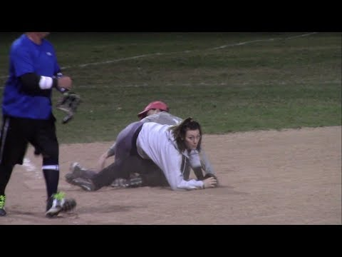 Mis Fits vs NBC Sports - Coed Softball Game - Fall League - Video Highlights - October 17, 2017