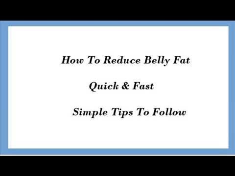 Tips To Reduce Belly Fat Quick And Fast in Urdu & Hindi