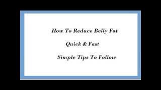Tips To Reduce Belly Fat Quick And Fast in Urdu & Hindi Thumbnail