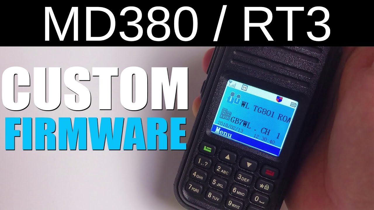 Custom Firmware On An MD380 / RT3 DMR Radio Using MD380Tools