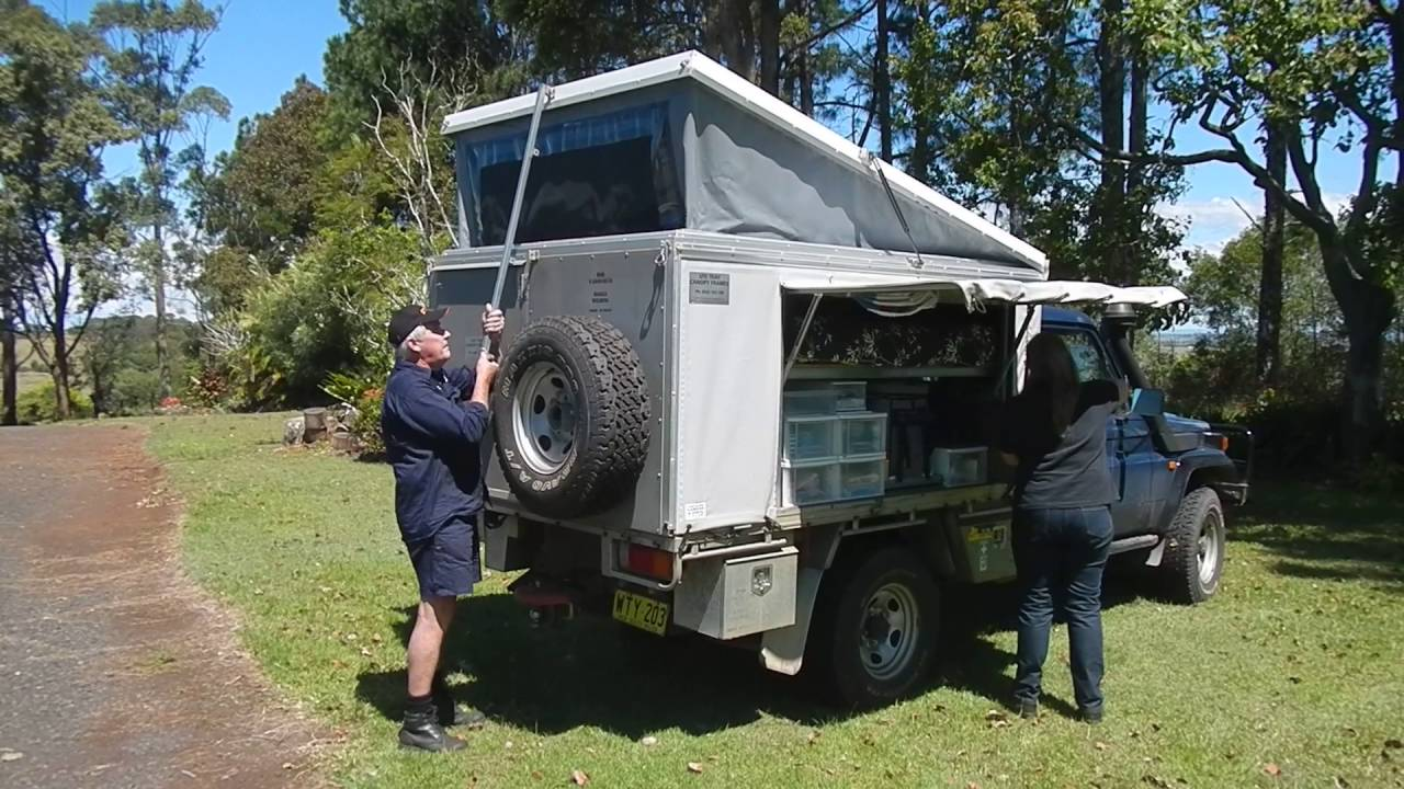 Pop Top Ute Camper Canopy Frame Youtube