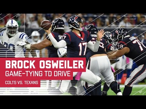 Brock Osweiler Leads Texans on Game-Tying TD Drive! | Colts vs. Texans | NFL