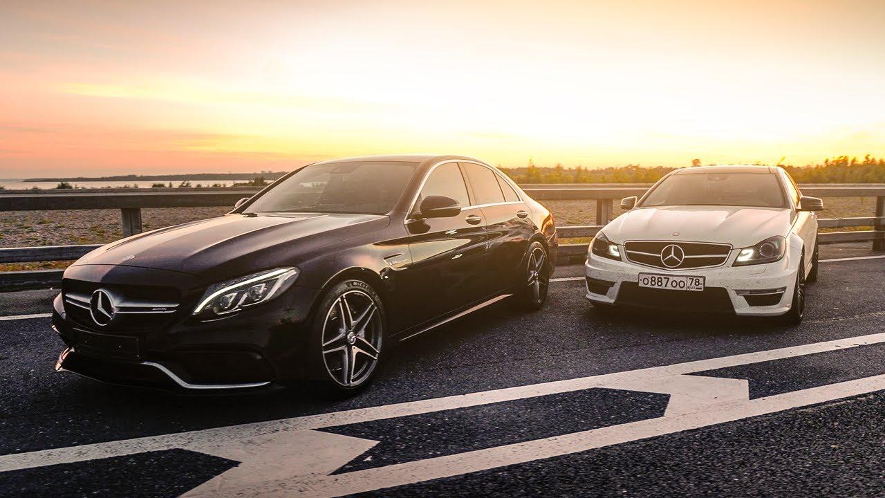 Mercedes-Benz C63 AMG w205 vs C63 AMG w204 - Битва поколений! Кто быстрее и на сколько?!