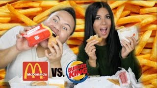 Mc Donalds VS Burger King mit Michael Adrian  I Fast Food Challenge I Soraya Ali