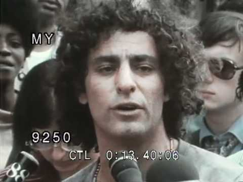 Abbie Hoffman - Short interview on the street in the seventies