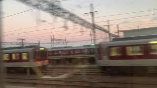 名古屋行き特急(N55+NS56)大和八木~近鉄四日市 側面展望③