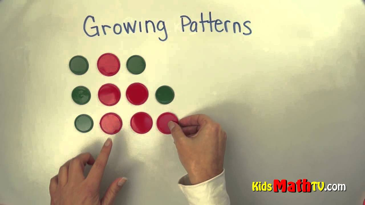 small resolution of Learn Growing Patterns in this Math Video tutorial. Kindergarten lesson for  kids. - YouTube