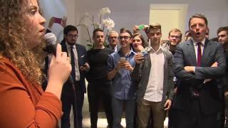 Roma - Renzi partecipa all'inaugurazione della sede di Roma di Camplus  (23.11.16)