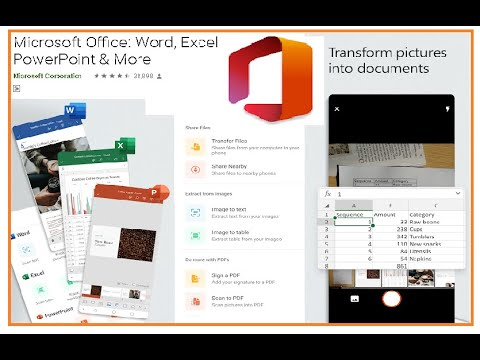 Microsoft Office App For Android– Word, Excel, PowerPoint - Tutorial