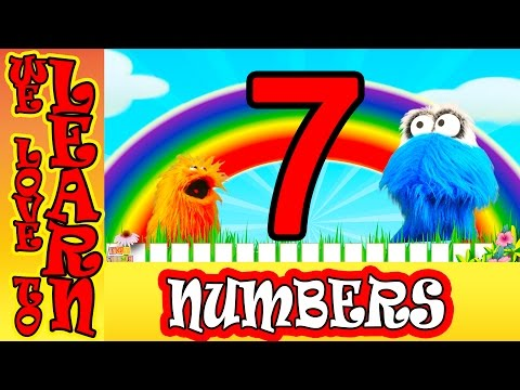 We Love To Count Numbers Learning the Number 7 For Toddlers Kids Video