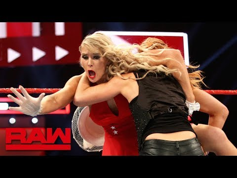 Becky Lynch catches Lacey Evans by surprise: Raw, June 17, 2019
