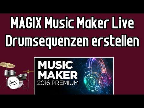 MAGIX Music Maker 2016 Tutorial #2 - eigene Schlagzeugsequenzen erzeugen mit Robota