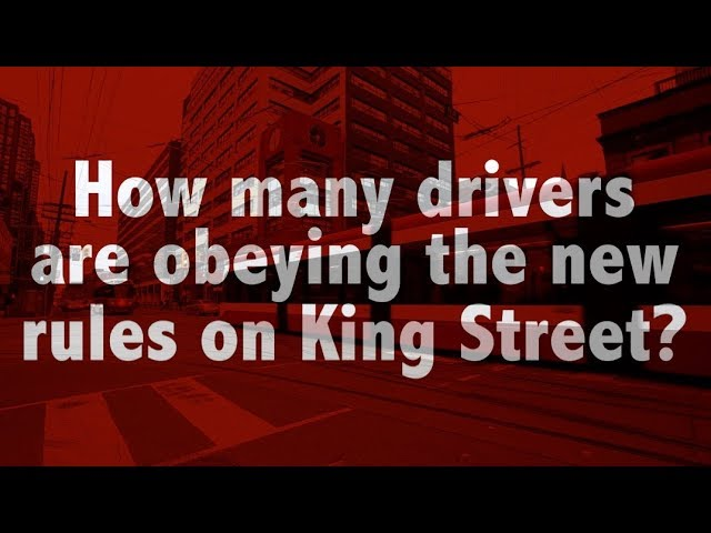 We recorded 15 minutes of video at 5 intersections on King Street that are part of the new pilot project. How many drivers do you think disobeyed the right hand turn rule?
