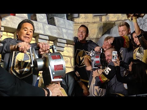 Wayne Newton and Backstreet Boys crank the siren at Game 4 in Vegas