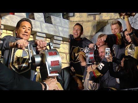 Wayne Newton and Backstreet Boys crank the siren at Game 4…