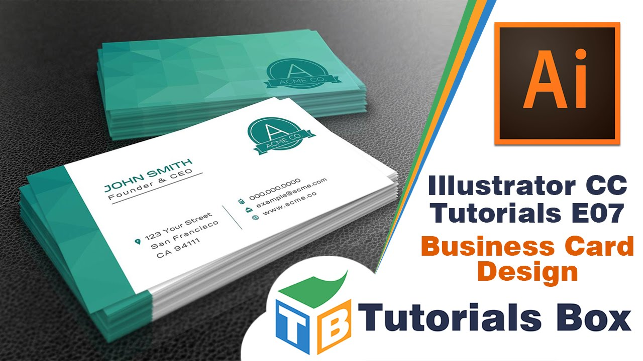 Illustrator cc tutorials e07 business card design youtube colourmoves