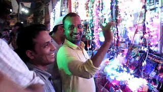 WHOLESALE  DIWALI LIGTHING MARKET AT EZRA STREET KOLKATA INDIA 2017 PART 3