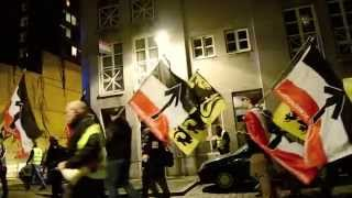 """NSV! Betoging """"Geen tronen blijven staan!"""" 2014"""