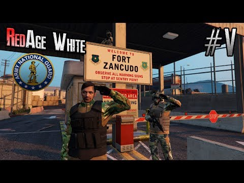 GTA 5 RedAge RP White Армейские Будни Полковника Нац.Гвардии Стрим ГТА 5