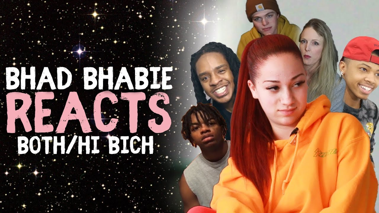 """BHAD BHABIE reacts to """"Hi Bich Remix"""" & """"Both Of Em"""" Reaction and Roast Vids 