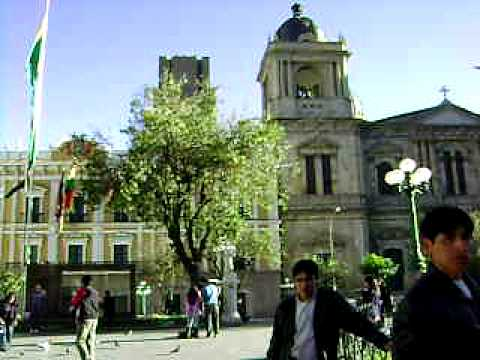 paceo en la plaza de La Paz