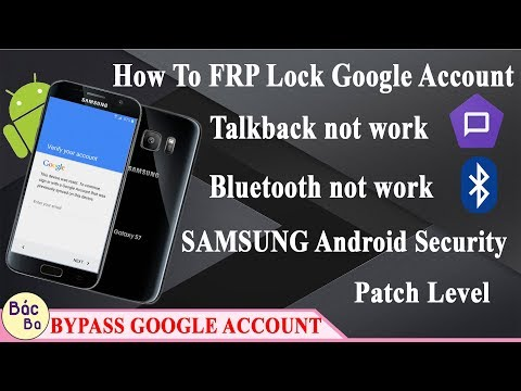 How To FRP Lock Google Account Talkback & Bluetooth Not Work Samsung Android  Security Patch Level