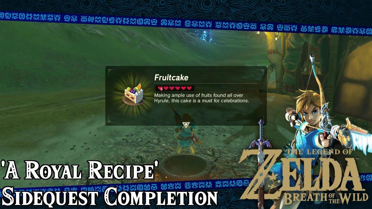 zelda breath of the wild recipe guide