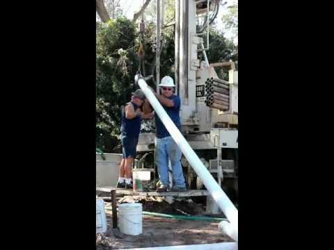 """Installing 4"""" well casing for an artesian well"""