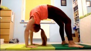 Trening akrobatyki z widzami