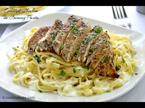 Grilled Chicken In Creamy Pasta