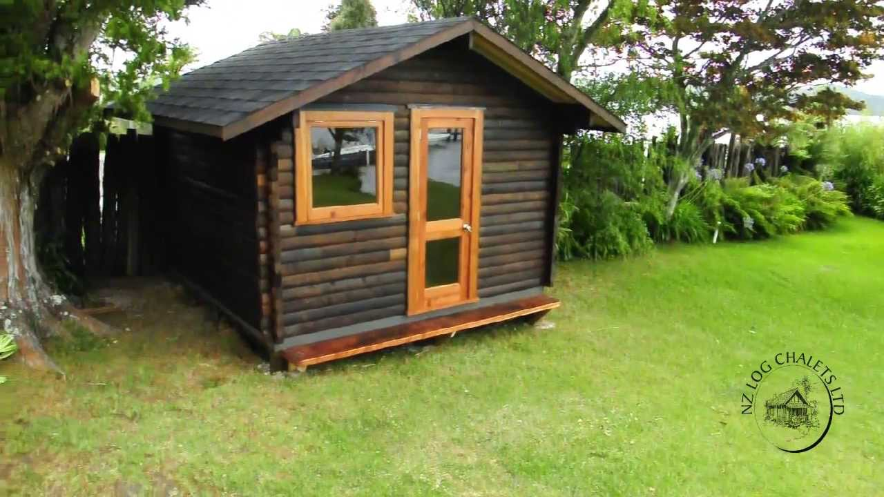 How We Built Our Garden Chalet Youtube