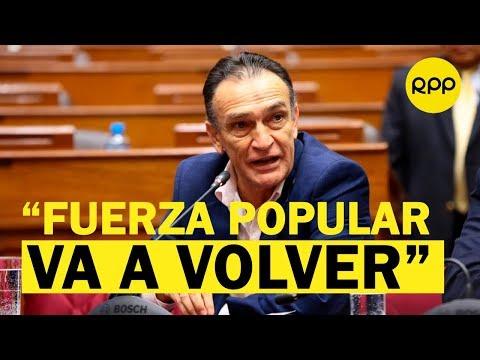 """Héctor Becerril a Martín Vizcarra: """"Fuerza Popular volverá a ser mayoría en el Congreso"""""""