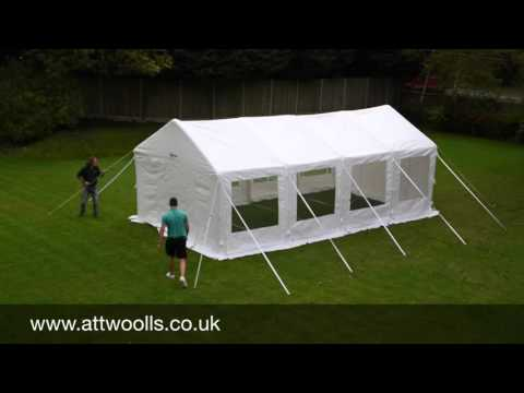 Kampa Inflatable Party Tent Pitching & Packing Video (Real Time)