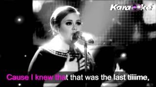 Adele- Set fire in the rain - karaoke lyrics