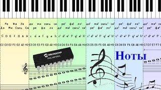 42. Простой музыкальный звонок на микроконтроллере PIC. Часть 1. (Урок 35. Теория)