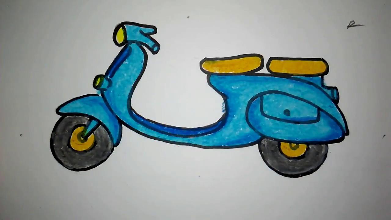 Gambar Grafiti Motor Vespa Galeriotto