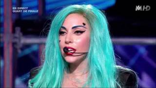 Repeat youtube video Lady Gaga - The Edge of Glory / Judas X FACTOR France
